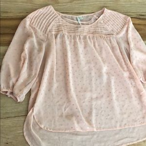 Pink and gold blouse